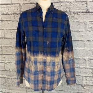 Mossimo Supply Custom Half Dip Bleach Dye Flannel